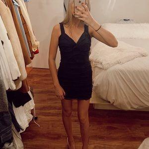 Zara Dresses - Ruffled Zara Navy Dress
